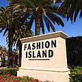 Fashion Island Sign In Orange County California by Paul Velgos