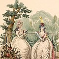 Fashion Plate Of Ladies In Summer Day by French School
