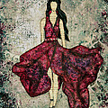 Fashionista Mixed Media Painting By Janelle Nichol by Janelle Nichol