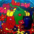 Fat Cats In My Garden by Patti Schermerhorn