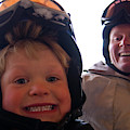 Father And Son At Big Mountain by Heath Korvola