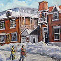 Faubourg A Melasse Montreal - Joys Of Winter By Prankearts by Richard T Pranke