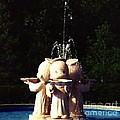 Faux Precious Moments Fountain by Margaret Newcomb