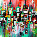Favelas - Abstract Art By Laura Gomez by Laura  Gomez