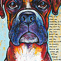 Fawn Boxer Love by Stephanie Gerace