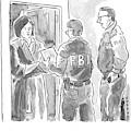 Fbi Agents At A Woman's Door by Brendan Loper