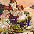 Feeding Ducks by Edith S Berkeley