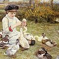 Feeding Ducks by Edward Killingworth Johnson