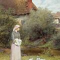 Feeding The Ducks by Charles Edward Wilson