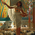 Feeding The Sacred Ibis In The Halls Of Karnac by Edward John Poynter