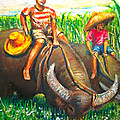 Feeding Water Buffalo by Joemarie  Chua