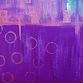Feeling Purple Abstract by Saundra Myles