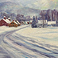 Felchville Village In The Snow by Nancy Griswold
