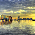 Fells Point Harbor Sunset Baltimore Maryland   by George  Edwards