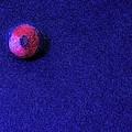 Felt Ball On Blue Felt by Scott Carlton