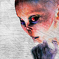 Female Alien Portrait by Bob Orsillo