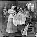 Female Barber-shop, 1895 by Granger