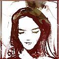 Female Textured Sketch Number 1 by George Sneyd