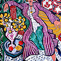 Femme Au Manteau Violet by Tom Roderick