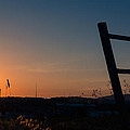 Fence At Sunset II by Marco Oliveira