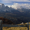 Fence With A Mountain Range by Panoramic Images
