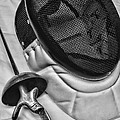 Fencing - Fencing Mask And Sword by Paul Ward