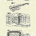 Fender Floating Tremolo 1961 Patent Art by Prior Art Design