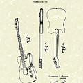 Fender Guitar 1951 Patent Art by Prior Art Design
