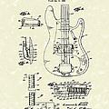Fender Guitar 1961 Patent Art by Prior Art Design