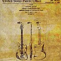 Fender Guitar Patent On Canvas by Dan Sproul