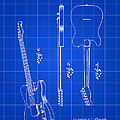 Fender Guitar Patent 1951 - Blue by Stephen Younts