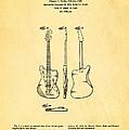 Fender Jazzmaster Guitar Design Patent Art 1959 by Ian Monk