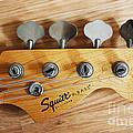 Fender Squier Bass by Barbara McMahon
