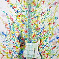 Fender Stratocaster - Watercolor Portrait by Fabrizio Cassetta