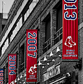 Fenway Boston Red Sox Champions Banners by Susan Candelario