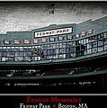 Fenway Memories - Poster 1 by Stephen Stookey