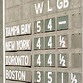 Fenway Park Al East Scoreboard Standings by Susan Candelario