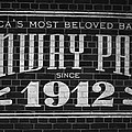 Fenway Park Boston Ma 1912 Sign by Toby McGuire