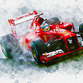 Fernando Alonso Of Spain by Don Kuing