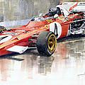 1971 Ferrari 312 B2 1971 Monaco Gp F1 Jacky Ickx by Yuriy Shevchuk