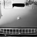 Ferrari Grille Emblem -0504bw by Jill Reger