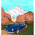 1969 Ferrari 365 G T C In The Mountains 1969 365 G T C by Jack Pumphrey