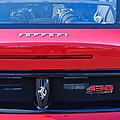 Ferrari Scuderia 430 Rear Emblems by Jill Reger