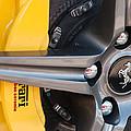 Ferrari Wheel - Brake Emblem by Jill Reger