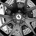 Ferrari Wheel Emblem - Brake Emblem -0430bw by Jill Reger