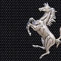 Ferrari's Horse Logo In Chrome by Scott Lenhart