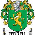 Ferrell Coat Of Arms Longford Ireland by Heraldry