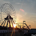 Ferris Wheel At Dawn by Robert Banach