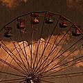 Ferris Wheel At Twilight by David Dehner
