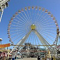 Ferris Wheel In Wildwood New Jersey by Becky Lupe